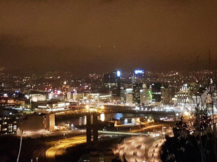 best night time view points Oslo