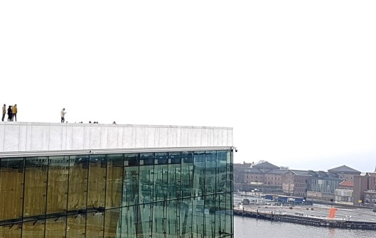 walking on opera house Norway
