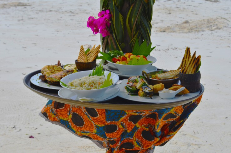 romantic private beach lunch