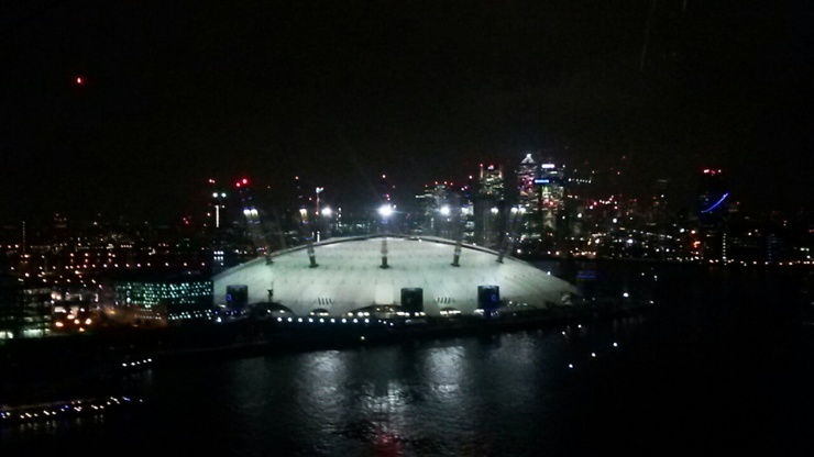 Emirates Cable car Greenwich night view