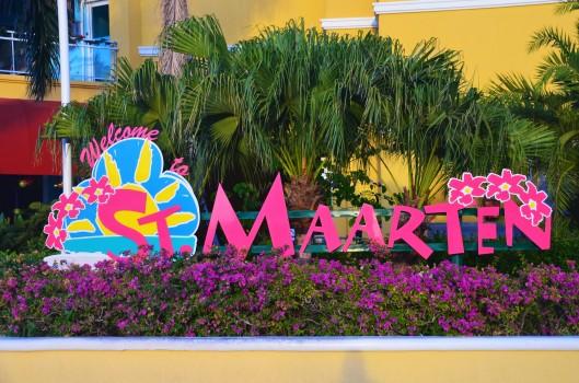 St Maarten island sign