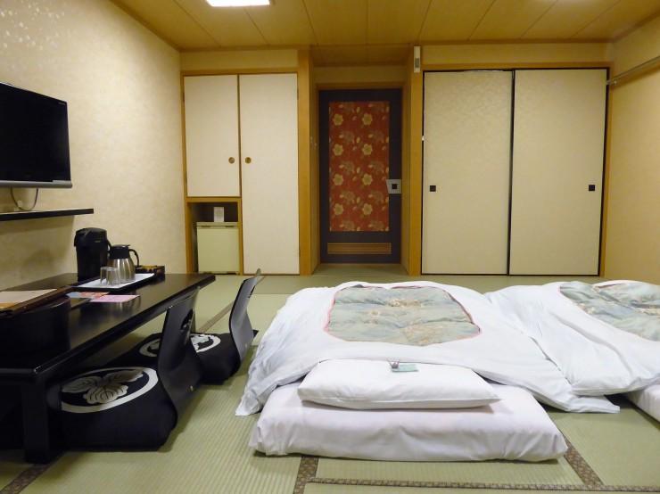 traditional Ryokan hotel futon Kyoto