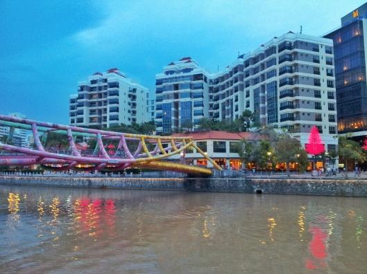 Robertson Quay Night time Singapore