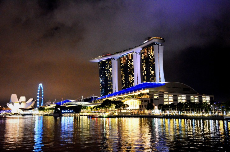 Marina Bay Sands Singapore skyline