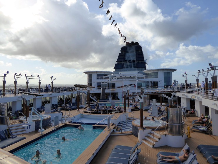 Celebrity Cruises swimming pool