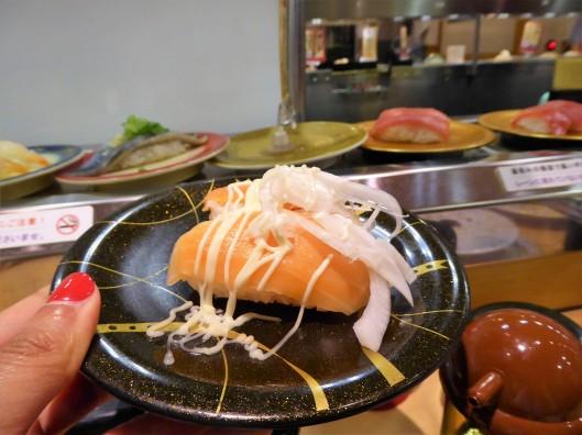 conveyor belt sushi Osaka