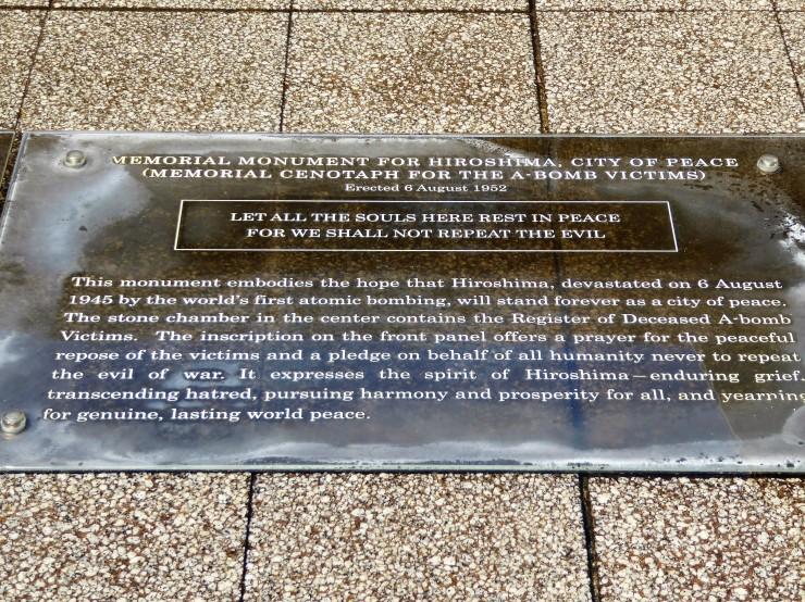 visiting Hiroshima memorial