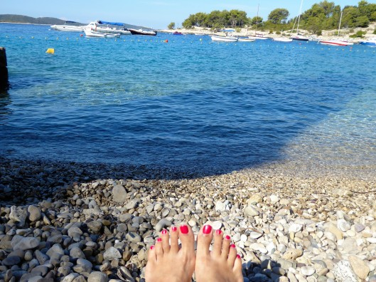 Hvar pebble beach feet
