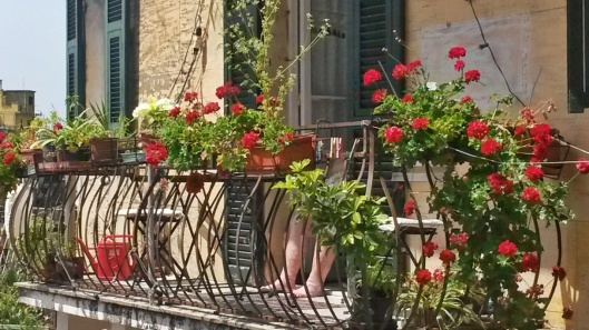Balconies with flowers Italy