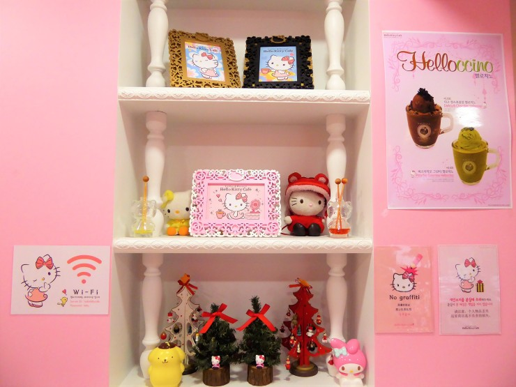 Hello Kitty theme cafe South Korea