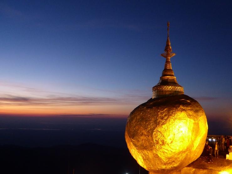 Golden Rock Temple sunset Myanmar