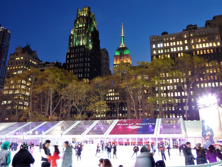 Bryant Park Ice Rink New York City