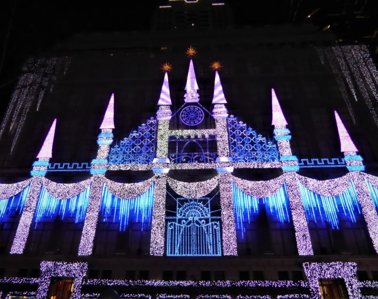 Saks Fifth Avenue festive Christmas lights