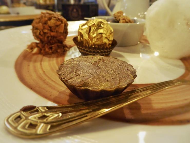 chocolate ganache Ferrero Rocher