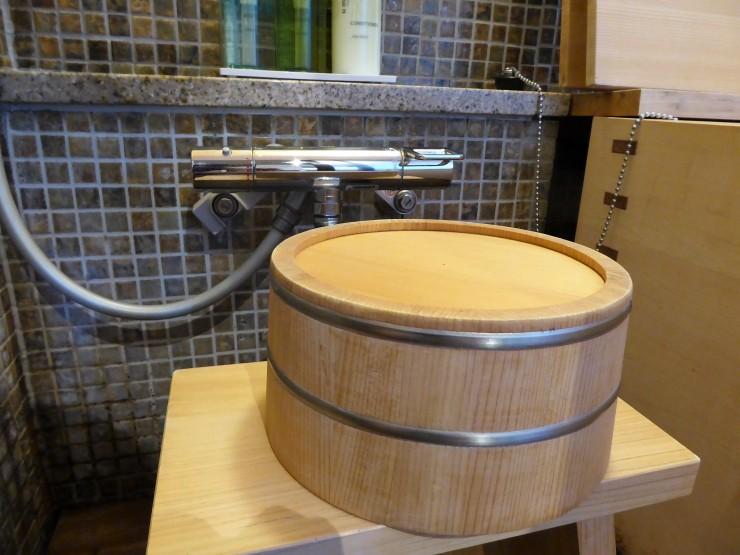 bathing in onsen