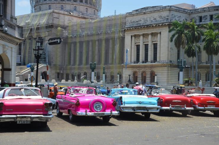 colourful vintage cars Havana
