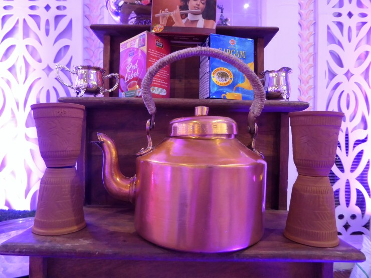 Indian copper teapot