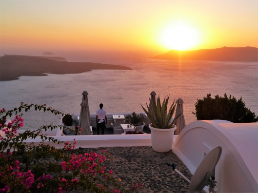 sunset view Firostefani Santorini