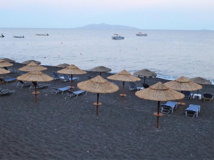 Kamari Black Beach Santorini