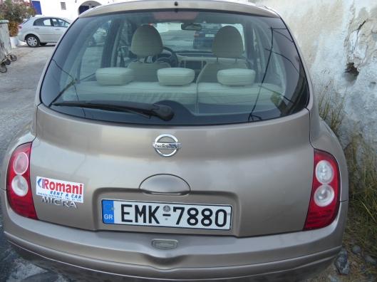 hire car companies Santorini