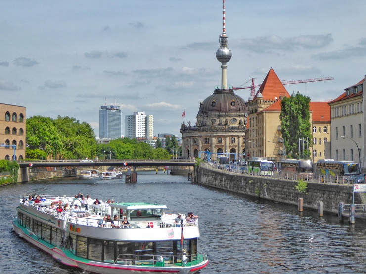 Berlin riverside view
