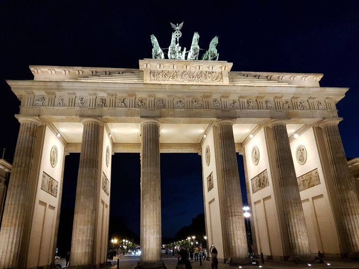 Bandenburg Gate Berlin at night