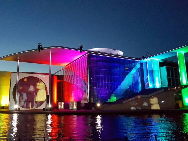Berlin Bundestag light show