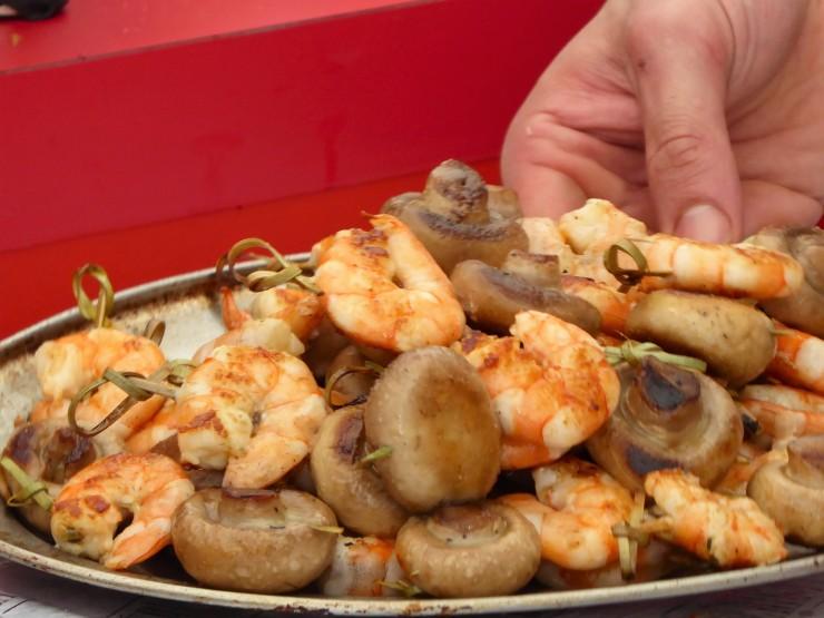 prawn mushroom tapas