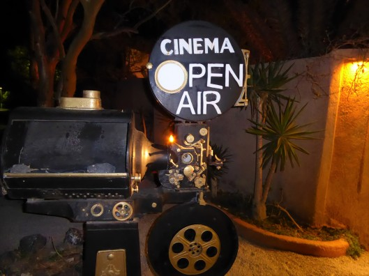 Santorini open air cinema