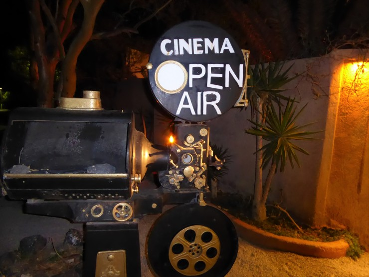 Santorini open air cinema