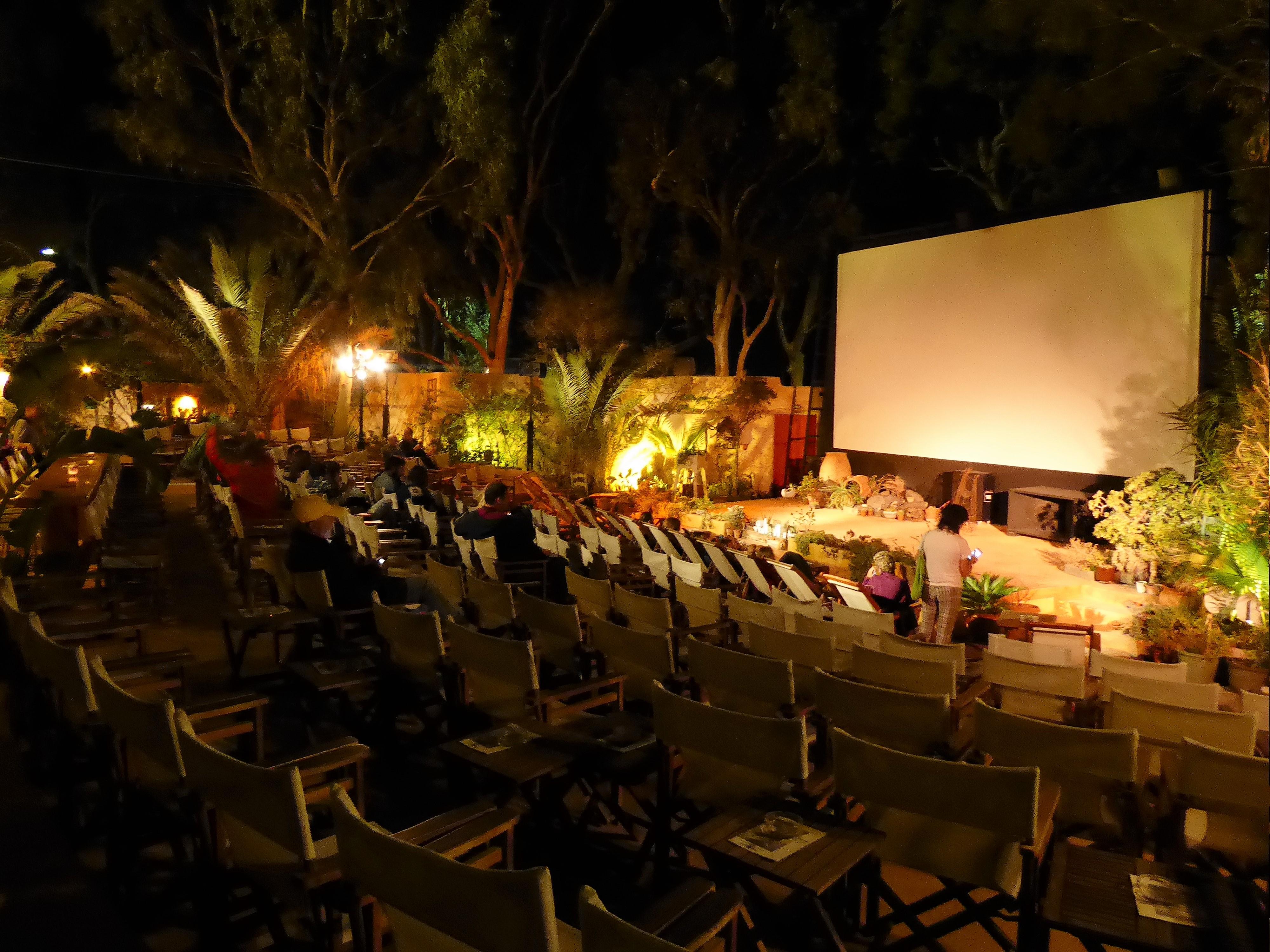 The CineKamari Open Air Cinema, Santorini