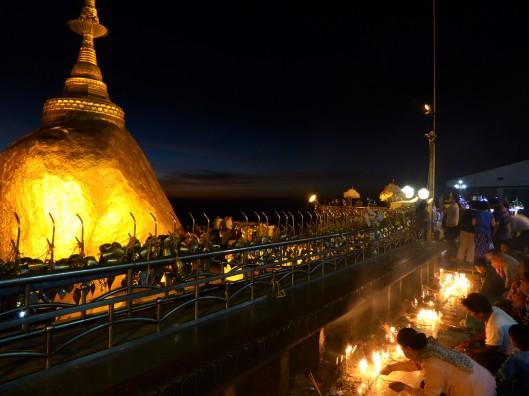 Golden Rock Temple travel blog