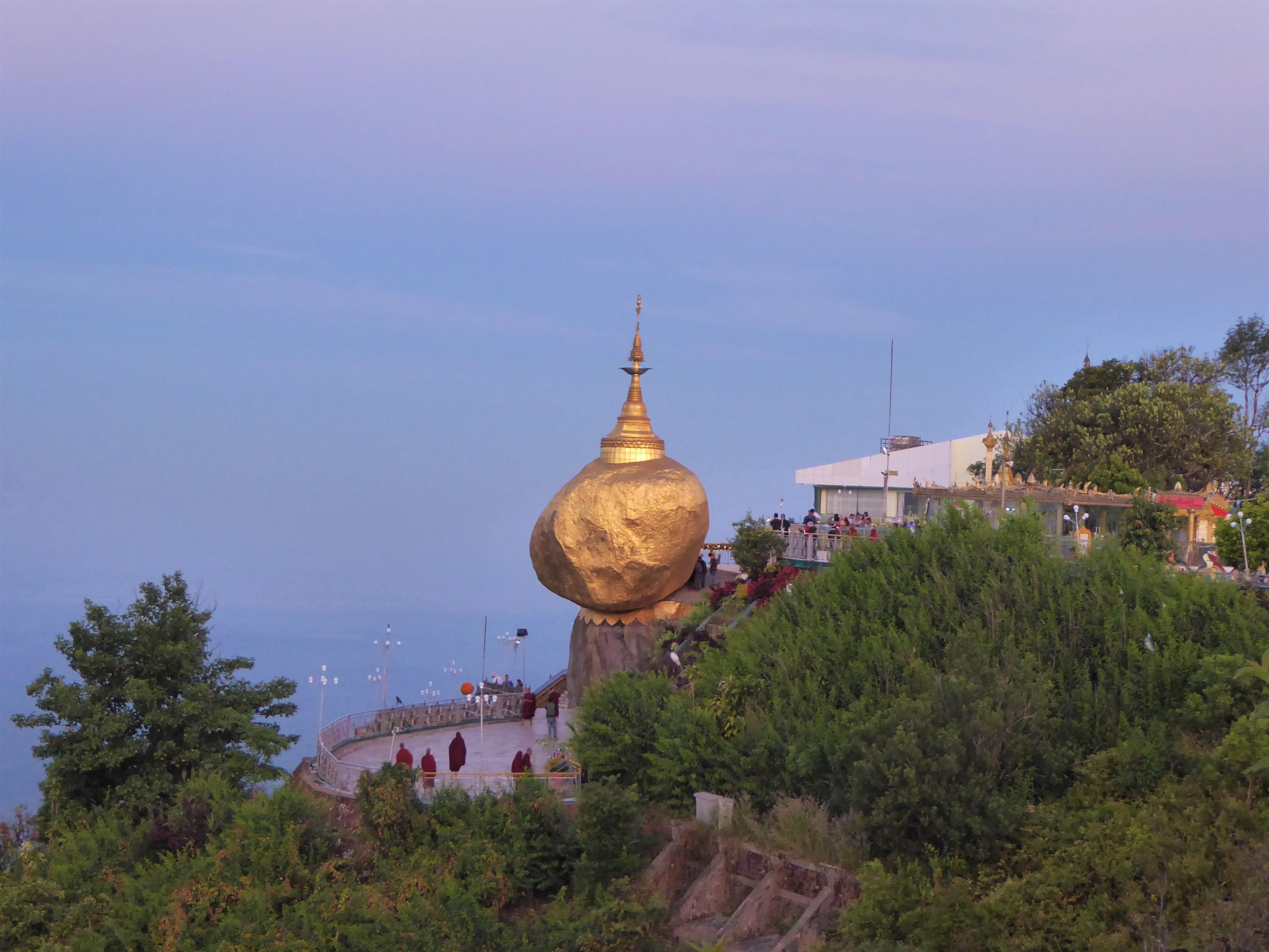 Visiting the Golden Rock Temple, Myanmar