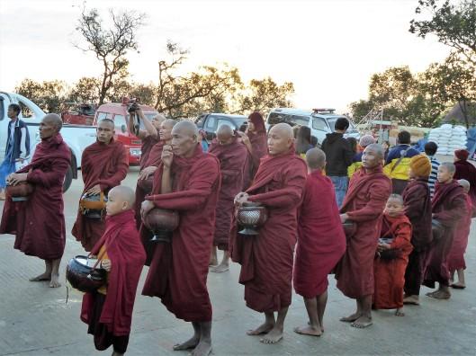 monks kyaiktiyo pagoda