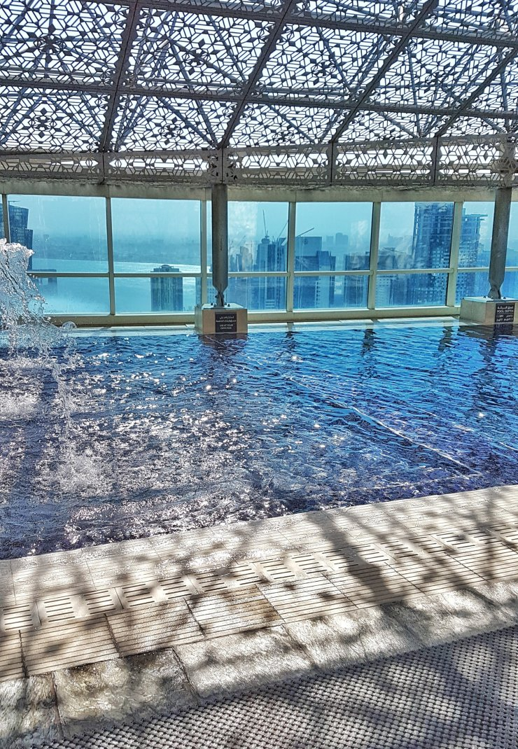 Intercontinental Doha City swimming pool