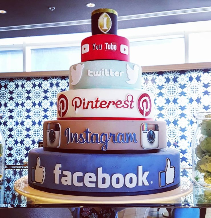 social media theme cakes