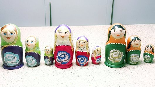 painting Russian Dolls St Petersburg