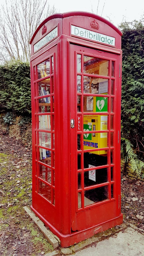 phone box defibrillator