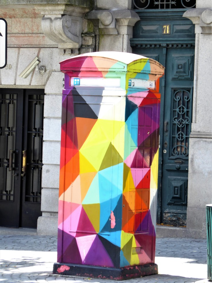 street art phone box