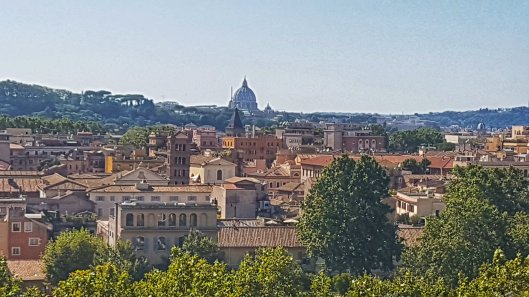 view from orange garden Rome