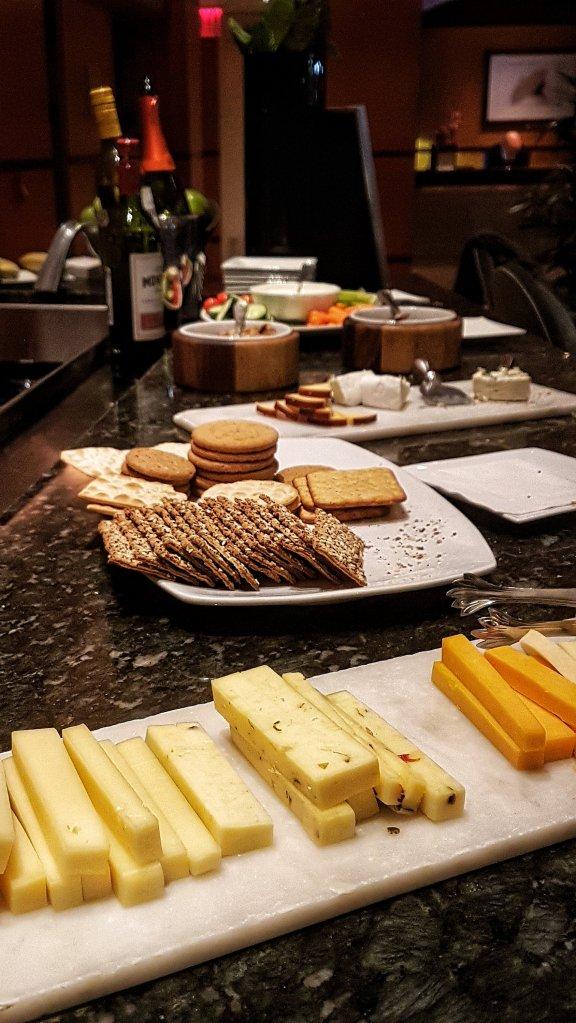 cheese wine reception Giraffe Hotel
