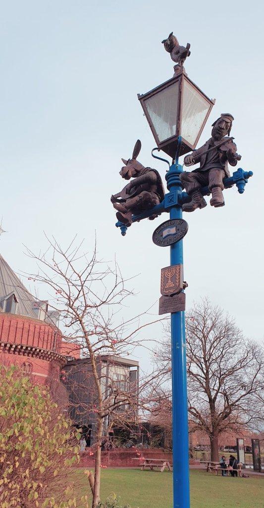 Special lamppost Stratford upon Avon